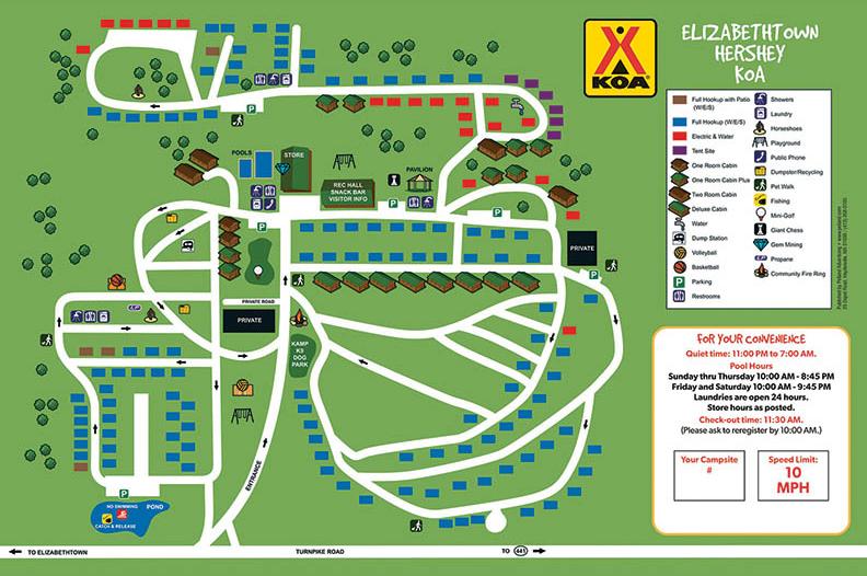 sitemap for elizabethtown / hershey koa